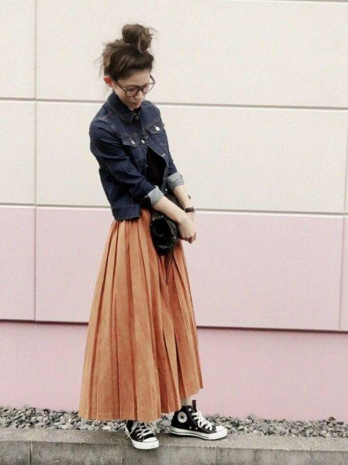 去年大活躍のスエード調プリーツスカート。 今年も沢山履けそうで嬉しい♡