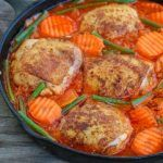 Jollof Rice and Chicken -An easy yet tasty one pot meal that is enjoyed in West African Countries (Nigeria, Cameroon, Ghana, Liberia and Sierra leone )
