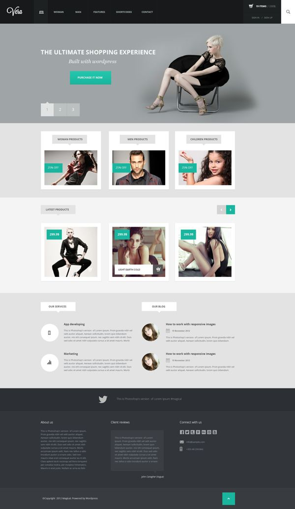 Vera Fashion Shop, Wordpress template by Arian Selimaj