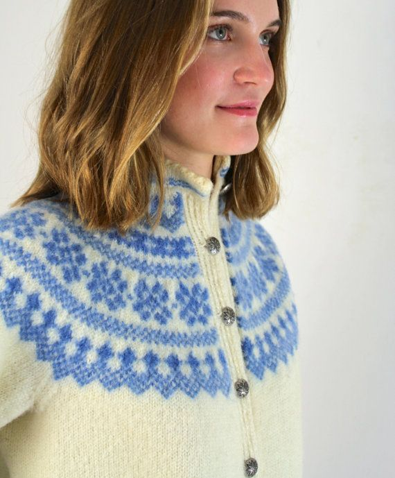 Fair Isle Sweater / Nordic Sweater by jessjamesjake on Etsy I like the china dish colours