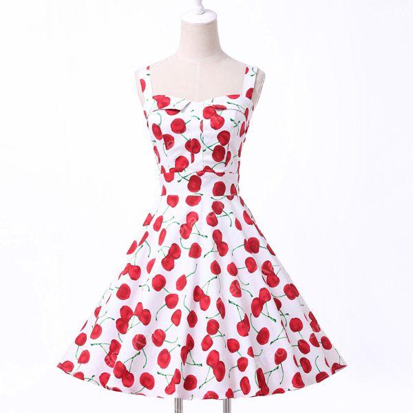 Дамы хлопок халат рокабилли женщин летний стиль платья pin up ретро урожай 50 s одри хепберн свинг печать свободного покроя одеждакупить в магазине Angel ShadowнаAliExpress