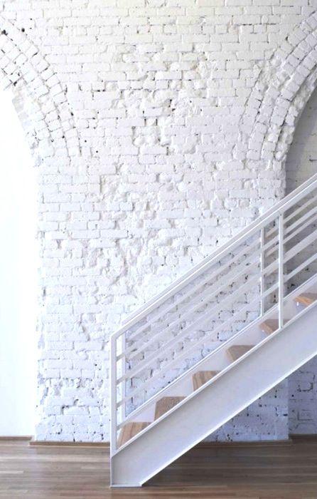 Painted brick.