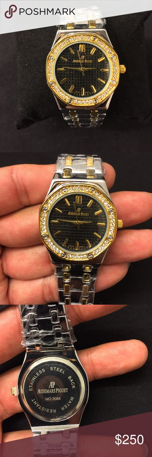 Audemars Piguet AP Ladies Watch Ladies Audemars Piguet AP Cubic Zirconia Bezel two tone silver and gold watch for sale! (Rep) very nice and elegant! Audemars Piguet Accessories Watches