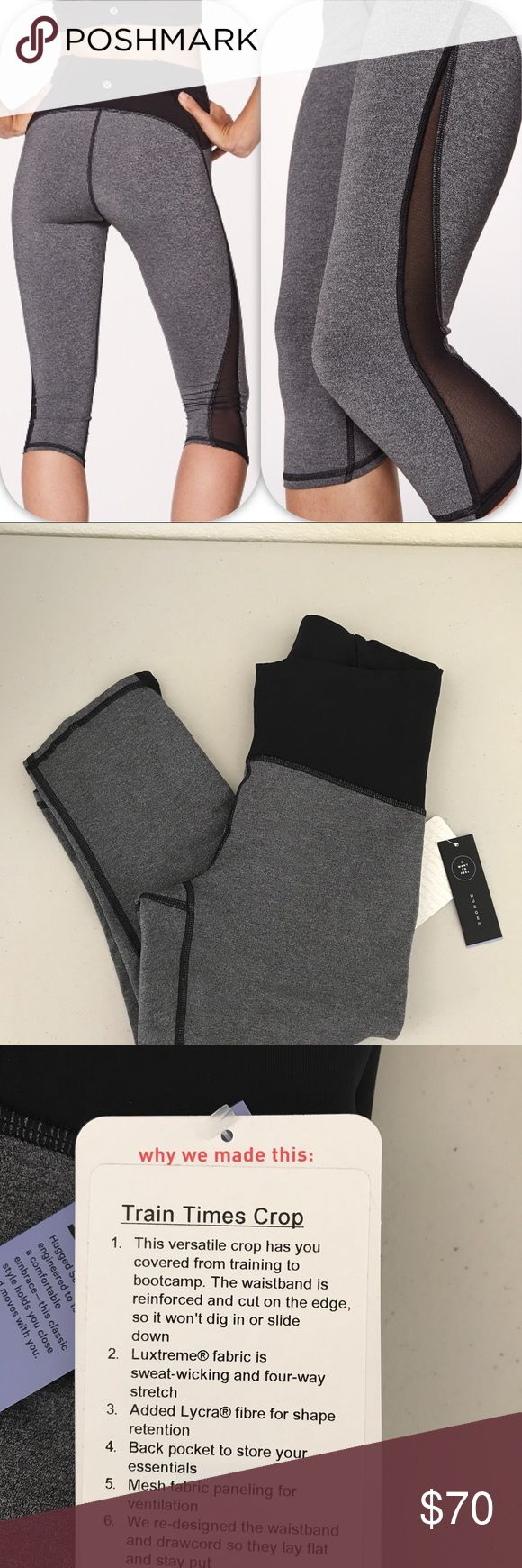 NWT HBLK LULULEMON TRAIN TIMES CROP - - Size 4 Brand: Lululemon Athletica train Times Crop        Condition: New with tag || Size 4  || HBLK heathered Black    🚩NO TRADES  🚩NO LOWBALL OFFERS  🚩NO RUDE COMMENTS  🚩NO MODELING  ☀️Please don't discuss prices in the comment box. Make a reasonable offer and I'll either counter, accept or decline.   I will try to respond to all inquiries in a timely manner. Please check out the rest of my closet, I have various brands. lululemon athletica Pants…