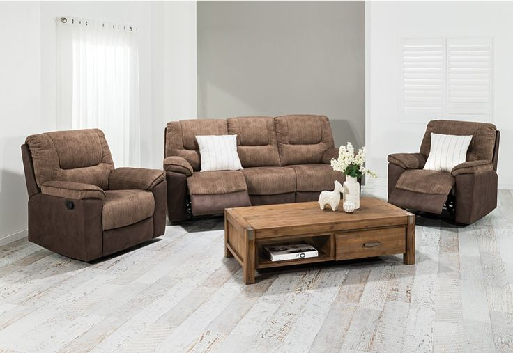 Billie Fabric Recliner Suite | Super Amart