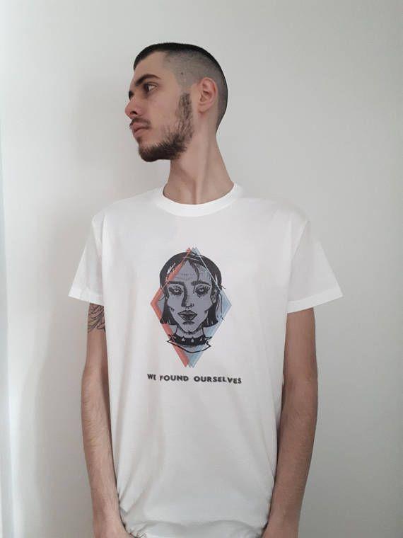 Dark Graphic White T-shirt Tshirt Tee Dystopians