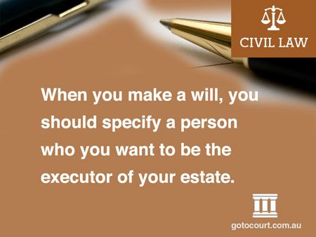 Probate in Victoria, as in all other Australian States and Territories, is the process of proving a person's will.  Read more: Probate in Victoria | Civil and Estate Lawyers VIC, Link: https://www.gotocourt.com.au/civil-law/vic/probate-in-victoria/