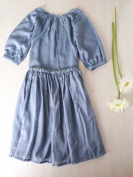 Trendy and fashionable, this soft long shift dress from Diya Mehta Clothing will enhance your little doll's casual look. Made from cotton mulmul to provide absolute comfort, this long dress will make her look cuter, than the rest, when worn with a pair of white sneakers. #kids #clothing