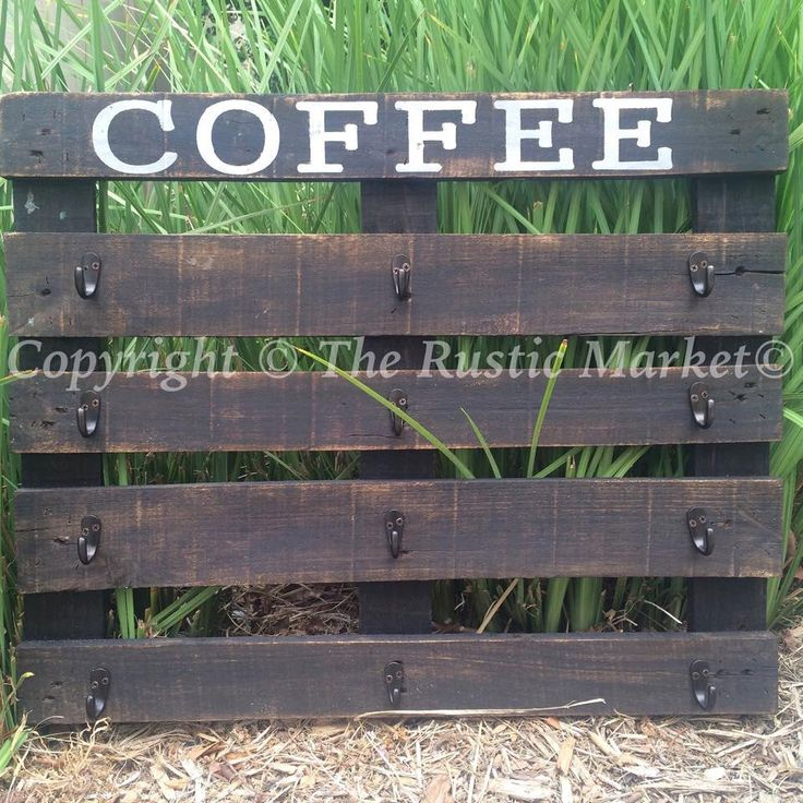 A personal favorite from my Etsy shop https://www.etsy.com/listing/248138236/rustic-coffee-mug-pallet-rack-display
