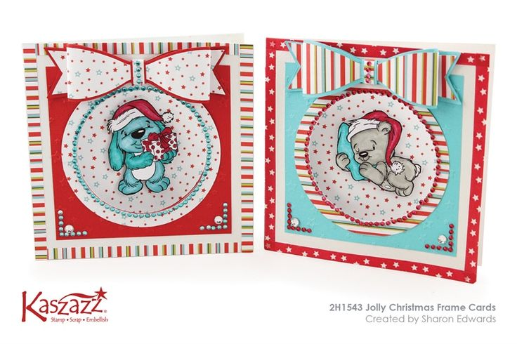 2H1543 Jolly Christmas Frame Cards