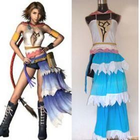 Embroidered Final Fantasy Cosplay Xii Yuna Costume For Sell Online