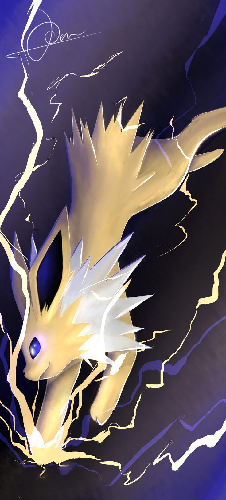 Shock them all! The lightning has arrived! by VulcanusKnight.deviantart.com on @deviantART (Jolteon)