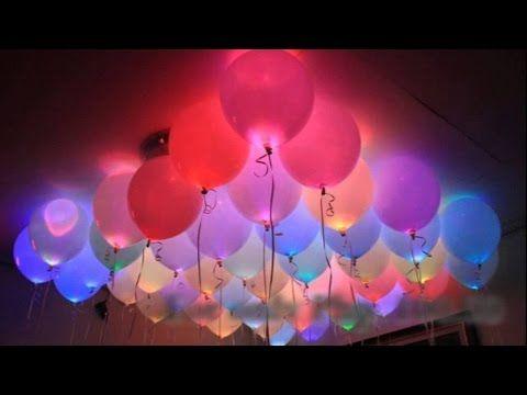 Como hacer Globos con Luz  - How to make a balloon with Light