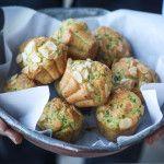 Muffins salati rucola e parmigiano