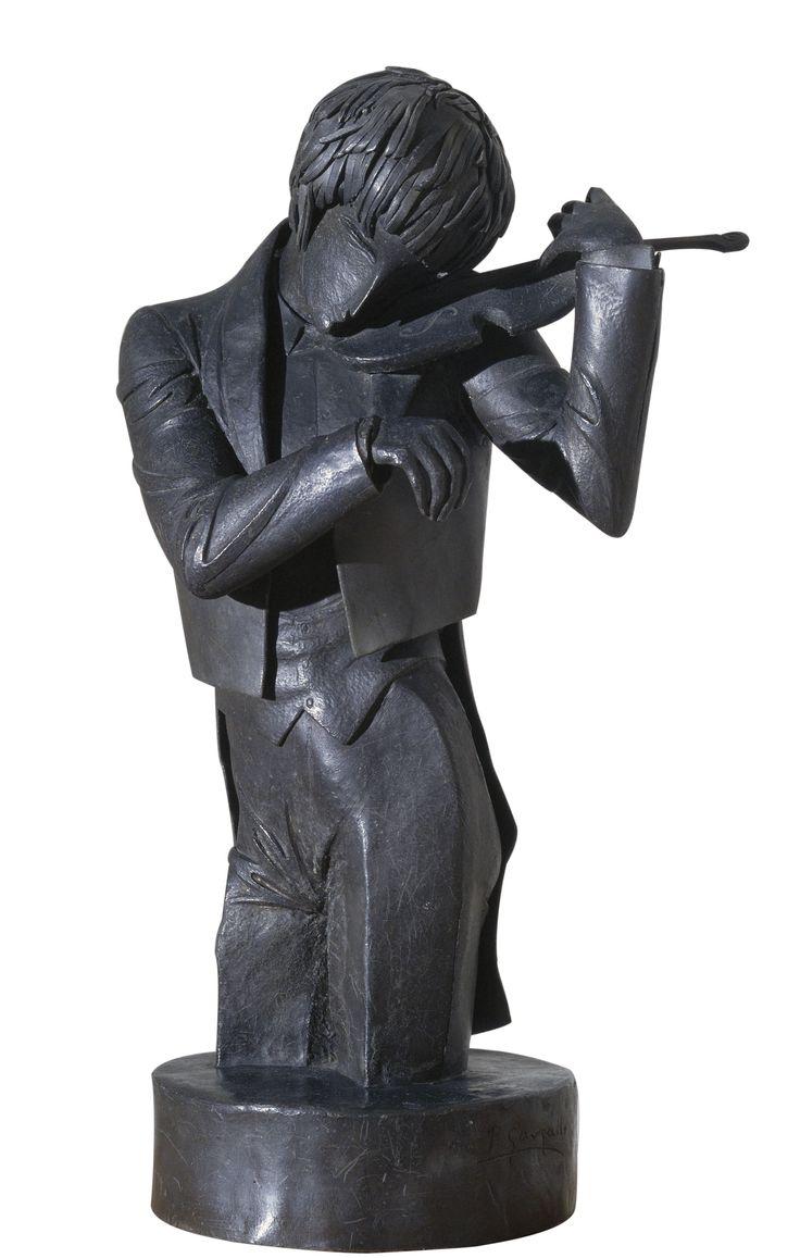 The Violinist, 1920 by Pablo Gargallo (Maella, 1881 – Reus, 1934) | Museu Nacional d'Art de Catalunya