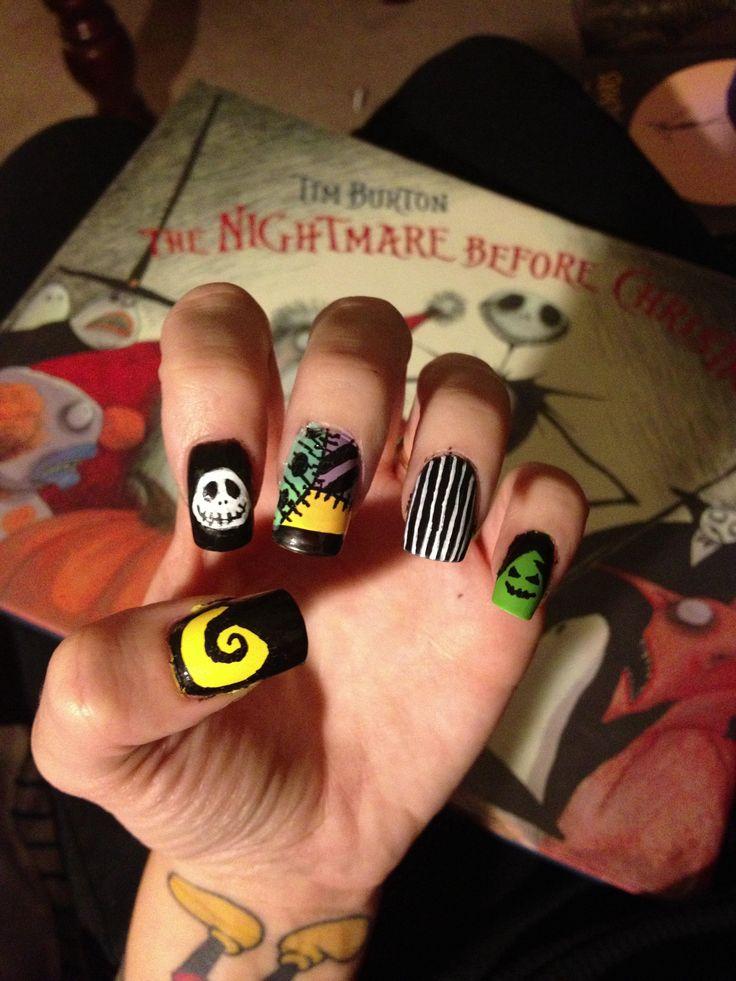 22 best Nightmare Before Christmas Halloween Ideas, pumpkins, nail ...