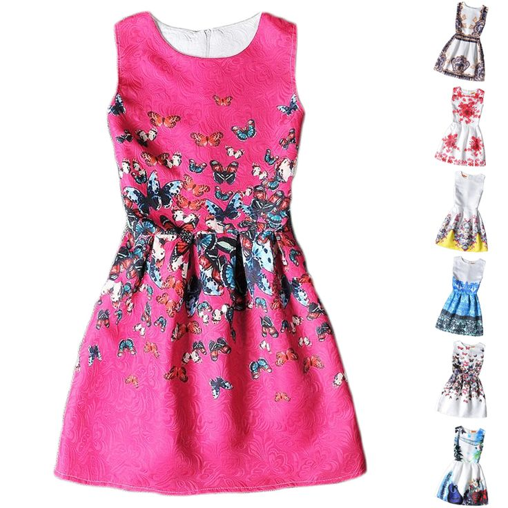 Flower Girls Dresses Summer 2016 Floral Print Sleeveless Kids Dresses for Girls Clothes Party Princess Dress Children 6-12Y | UNUM CLICK - Online Shopping for Electronics, Fashion, Home & Garden, Toys & Sports, Health & Beauty and more