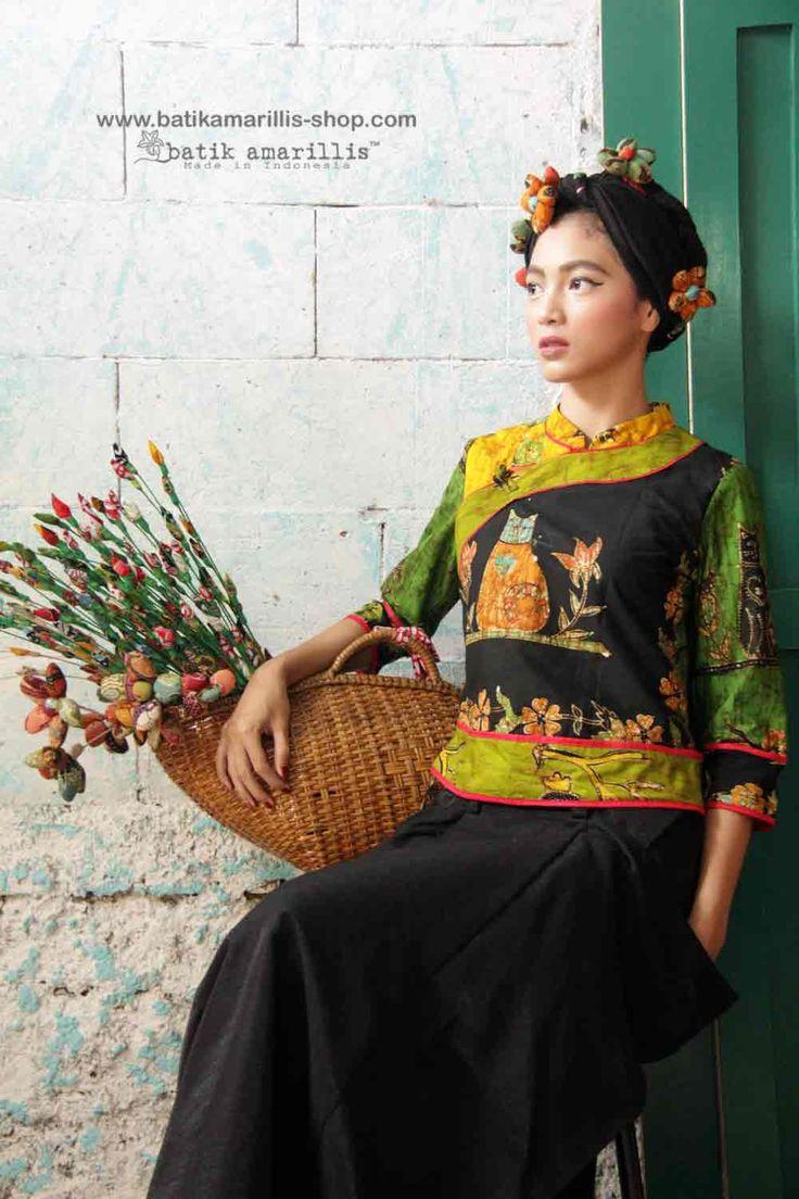 Batik Amarillis made in Indonesia www.batikamarillis-shop.com. Batik Amarillis's Joyluck Jacket