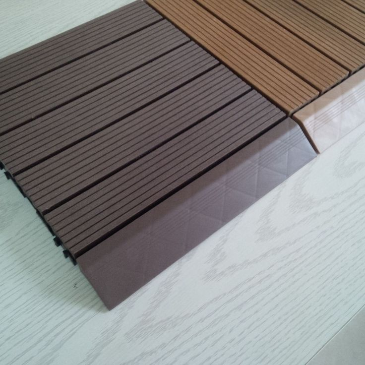 Seven Trust WPC DIY Decking Made From Wood Fibers And Plastic Resins Offer  A Durable Floor That Has A Natural Wood