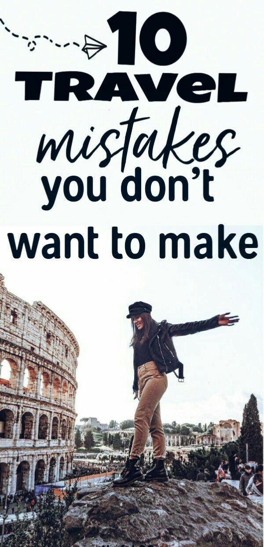 10 Reisefehler, die Sie nicht machen möchten! Reisefehler und Fehler 😠   – N…