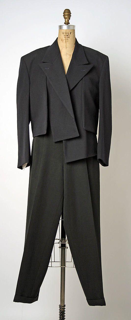 Suit, Evening Comme des Garçons, f/w 1988/89 (Japanese, founded 1969)