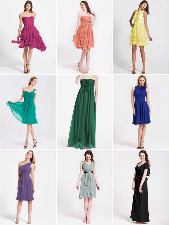 rainbow bridesmaid dresses from For Her And For Him