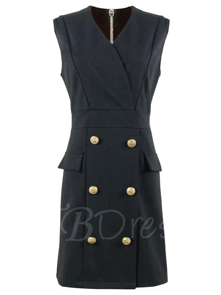 Tbdress.com offers high quality V Neck Black Women's Sheath Dress Sheath Dresses unit price of $ 32.99.