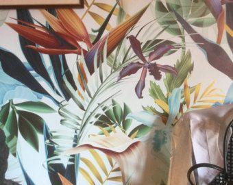Bananenblatt  großes Wandbild Wandbild Aquarell von anewalldecor