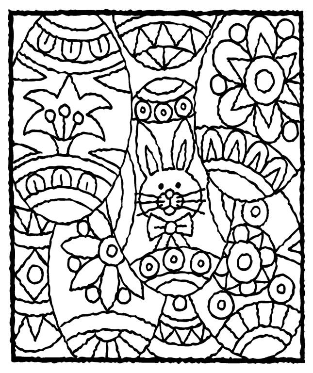 printable easter coloring pages and activities