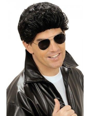 Perruque Grease noire Déguisements Perruques adultes #grease #deguisement #costume #perruque