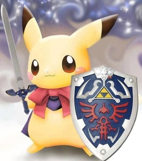 Pikachu as Link
