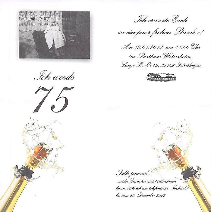 Einladungen Zum 75 Geburtstag Kostenlos Zum Ausdrucken 75 Geburtstag
