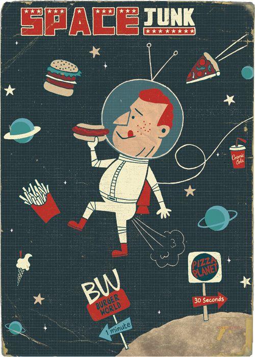 Space Junk via Paul Thurlby IllustrationIllustrationer Inspiration, Paulthurlby Com, Junk Illustration, Doces Paul, Illustration Inspiration, Paul Thurlby, Thurlby Illustration, Art Illustrations Design, Spaces Junk