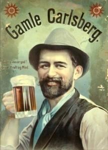 Gamle Carlsberg (Old Carlsberg). Vintage beer poster - Danish Carlsberg.