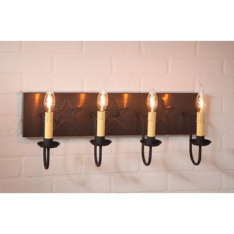 25 best primitive country bathrooms ideas on pinterest country baths country bathroom - Primitive bathroom vanity lights ...