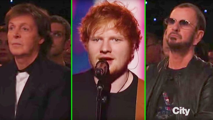 Paul McCartney And Ringo Starr Nearly Tear Up As Ed Sheeran Flawlessly Covers 'In My Life'