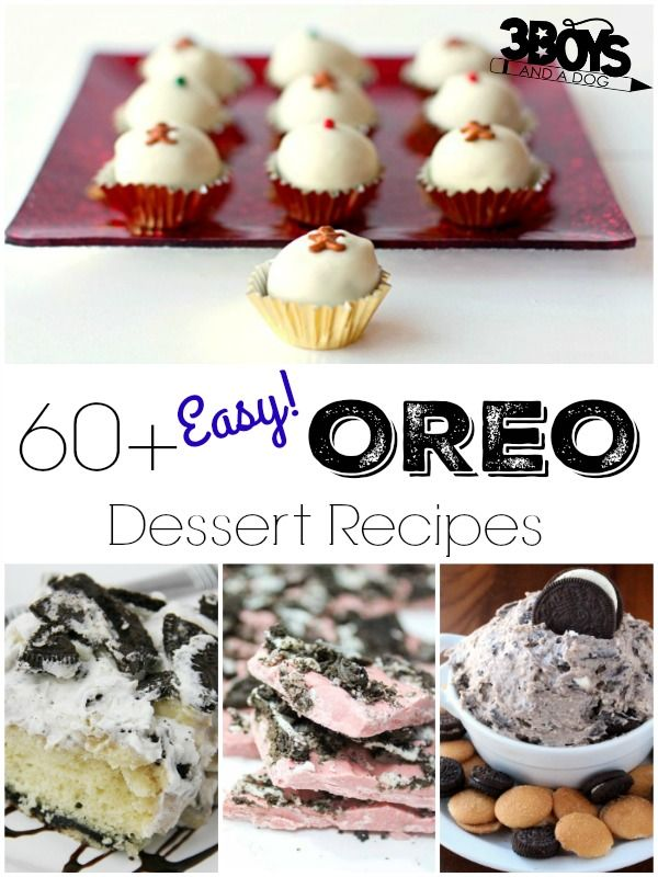 Easy Oreo Dessert Recipes - Oreos are so, so good and kids (and adults) love them! What's even better, though, is that they are a perfect dessert ingredient and it turns out that there are a TON of ways to make dessert with Oreos!  Don't believe me? Take a look at this roundup of easy OREO dessert recipes! There are more than 60 here, so you can cook with Oreo cookies until your heart is content!