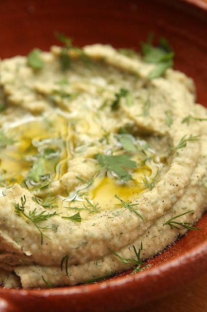 white bean dip with garlic, parsley, and lemon