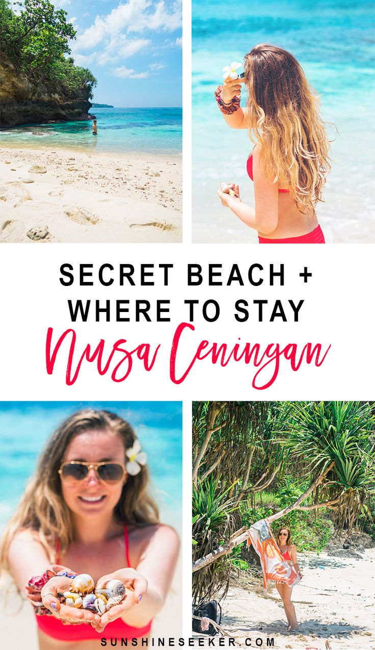 Discover the gorgeous secret beach and where to stay on Nusa Ceningan, Indonesia