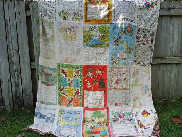54 Best Upcycle Vintage Tea Towels Linen Calendars Images