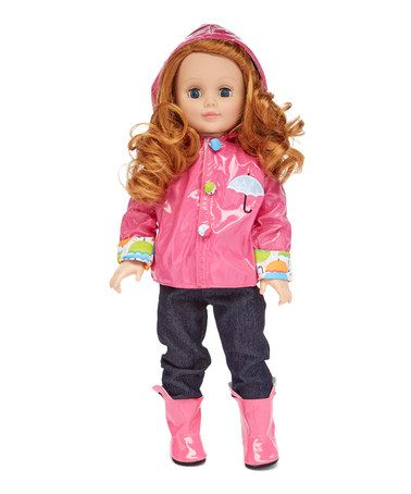 Another great find on #zulily! Pink Raincoat & Rainboots for 18'' Doll #zulilyfinds