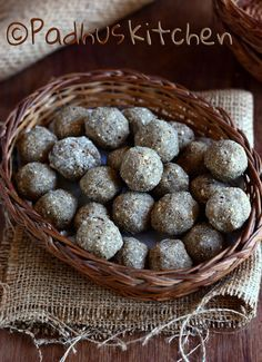 Healthy Pearl Millet (bajra) Laddu with dates, nuts, sesame seeds and jaggery. Make a healthy snack for both kids and adults.