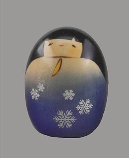 "Holzpuppe Kokeshi Yukinosei ""Schnee"" Handarbeit Holzpuppen Japanpuppen wooddoll"