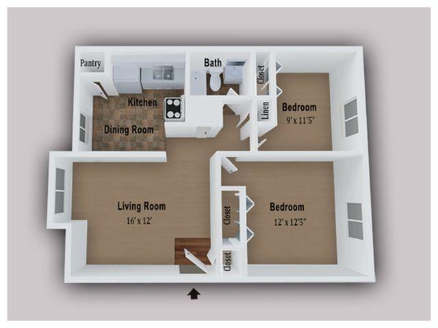 2 Bedroom 1 Bath Apartments For Rent In 2020 Bedroom Apartment 2 Bedroom Apartment Apartment Terrace