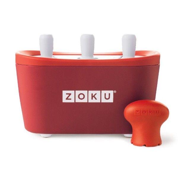 Maszynka do lodów Zoku Quick Pop, czerwona