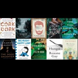 On today's episode, Adam and Jill sit down with some of their OverDrive coworkers and former podcast guests to find out what their favorite books of 2017 were!   Books Mentioned in this Episode: Hunger by Roxane Gay  Seven Husbands of Evelyn Hugo by Taylor Jenkins Reid Little Fires Everywhere by Celeste Ng Cork Dork by Bianca Bosker Lincoln in the Bardo by George Saunders. Interview with George Saunders available  here  A Court of Wings and Roses by Sarah J. Maas You by Caroline ...