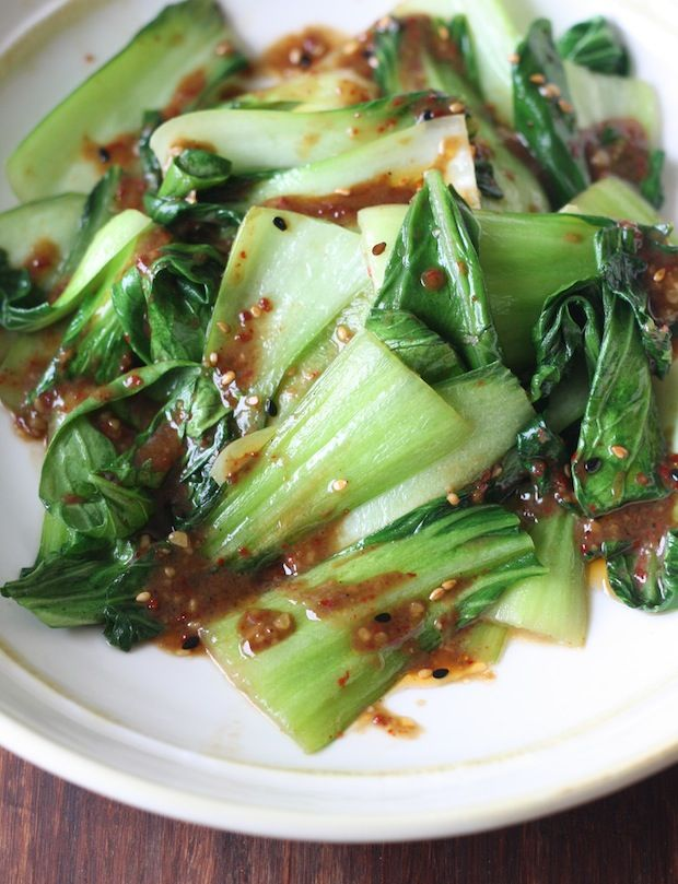 Easy Bok Choy Stir Fry with Miso Dressing recipe by SeasonWithSpice.com