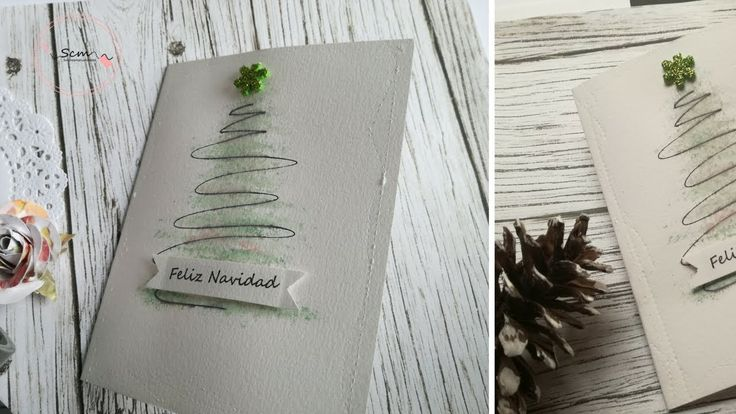 Manualidades para Navidad: Como hacer tarjeta de Navidad de manera fácil...