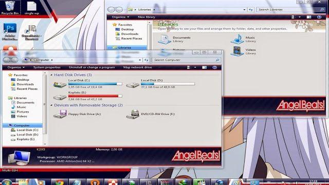 This page about Free Download themes windows //7 //seven// 肌//テーマ//画題//窓//ウィンドウ//七つ//skin// Angel Beats// エンジェルビーツ