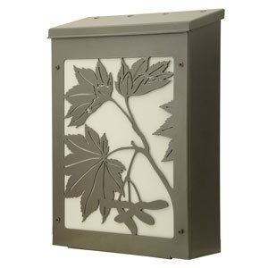 Blink Shadowbox Maple Leaf Vertical Wall Mount Mailbox in Dark Bronze by Blink Manufacturing. $145.00